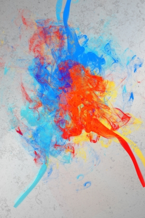 Artistic paint splashes in red blue yellow orange and purple wallpaper Stock Photo - 18131173