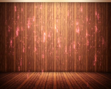 crackling: Background of pink illuminations with brown flooring