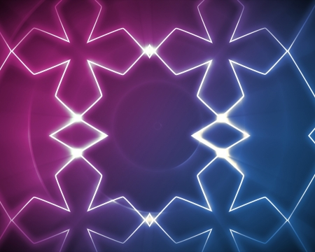 symetry: Symmetrical pattern blue and pink for background Stock Photo
