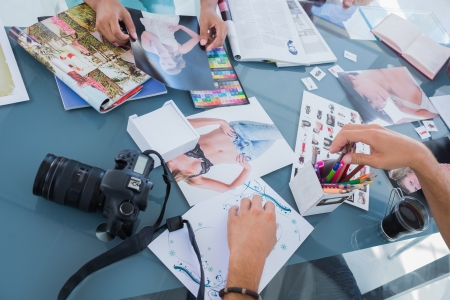 Immagini di foto e riviste utilizzati da editor di foto