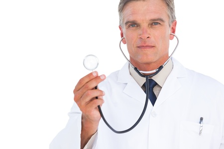 Doctor with stethoscope looking at the camera Stock Photo - 20527941