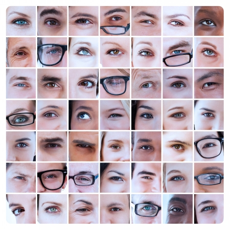 18 to 30s: Collage of various pictures of eyes