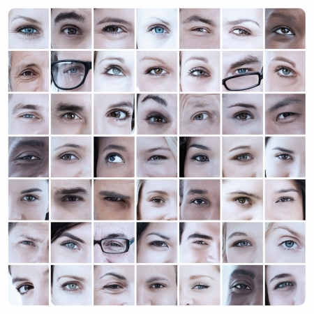 18 to 30s: Collage of different pictures showing eyes