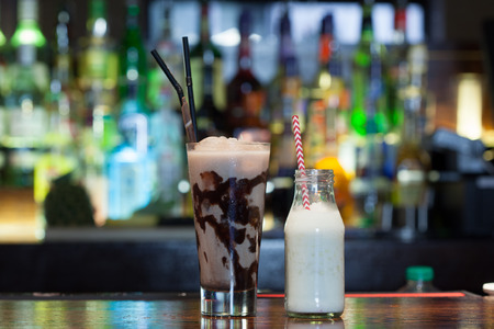 mouth watering: Close up on mouth watering drinks in a classy bar Stock Photo