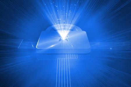 lock  futuristic: Serratura Digitale generato su sfondo blu