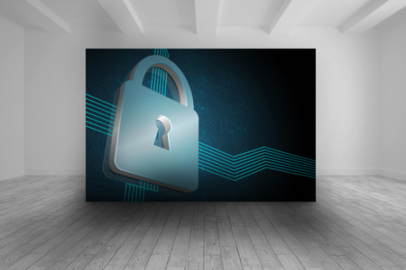lock  futuristic: Camera con immagine futuristica della serratura