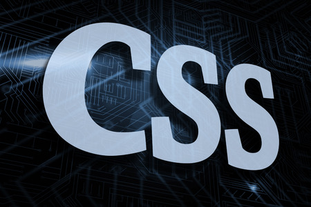 The word css against futuristic black and blue background Stock Photo - 26796647