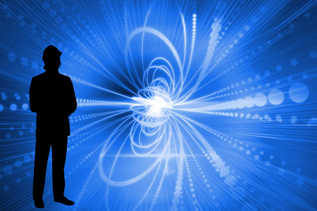 incidental people: Composite image of glowing futuristic background Stock Photo