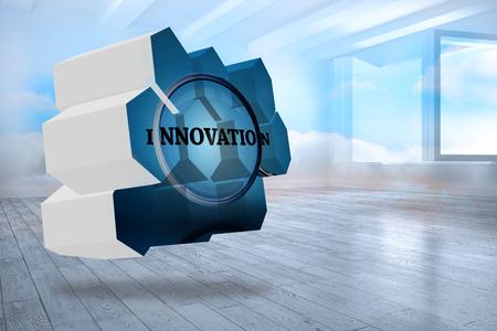 holographic: Innovare sullo schermo astratto contro stanza con nuvole olografico