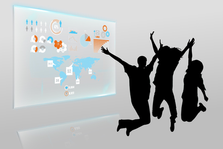 incidental people: Composite image of technology interface Stock Photo
