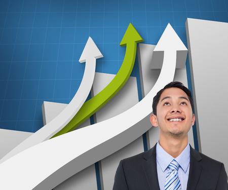 asian businessman: Composite image of smiling asian businessman