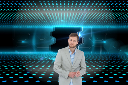 suave: Composite image of suave man in a blazer posing