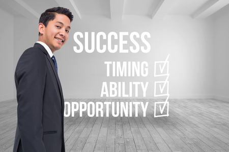 male wood tick: Composite image of success checklist written on room background Stock Photo