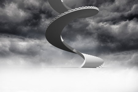 Winding staircase in the sky photo