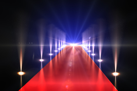 carpet: Cool nightlife lights Stock Photo