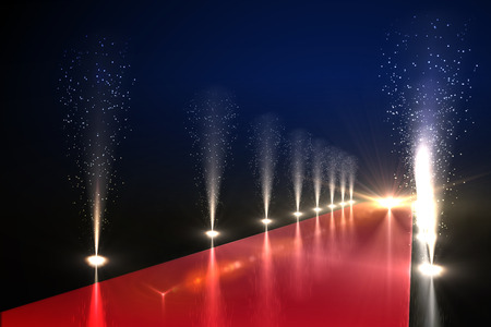 red carpet: Cool nightlife lights Stock Photo