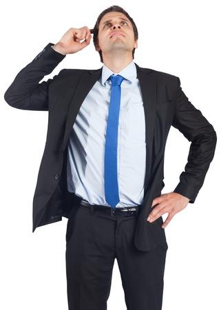 business skeptical: Negocios de pensamiento que rascarse la cabeza