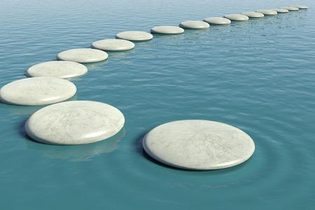 calm: Zen rock pool Stock Photo