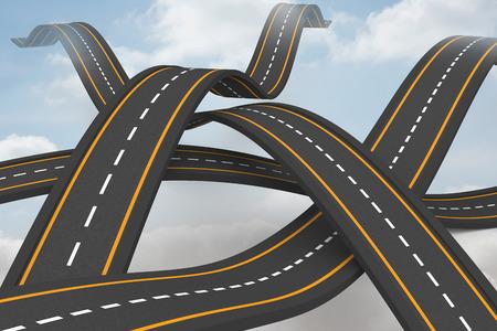 bumpy: Bumpy roads crossing backdrop Stock Photo