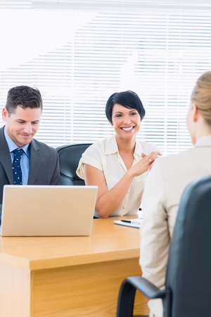 recruiters: Recruiters checking the candidate during a job interview at office
