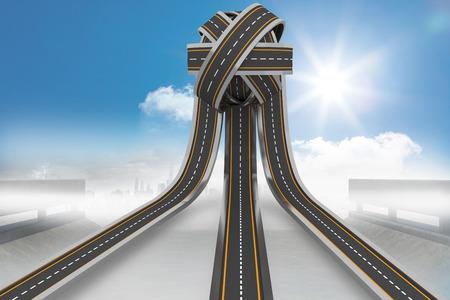 tangled roads: Tangled roads in a ball