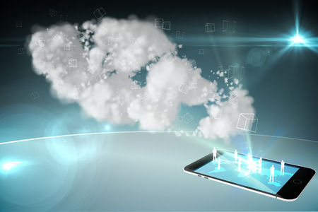 Cloud computing with smartphone photo