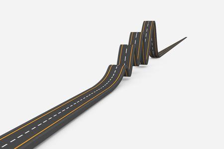 bumpy: Bumpy road Stock Photo