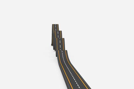 bumpy road: Bumpy road Stock Photo