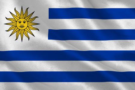 uruguay flag: Uruguay flag rippling