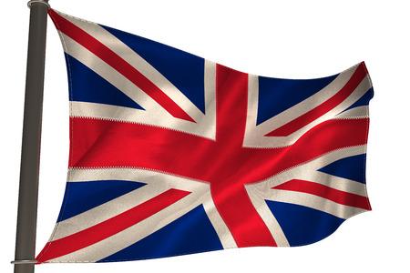 britain flag: Gran bandera de gran breta�a en el fondo blanco