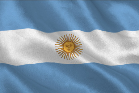 argentinian flag: Argentinian flag rippling