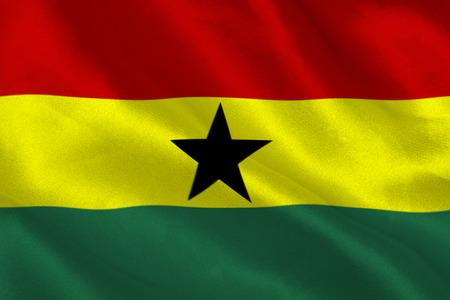 ghana: Ghana flag rippling