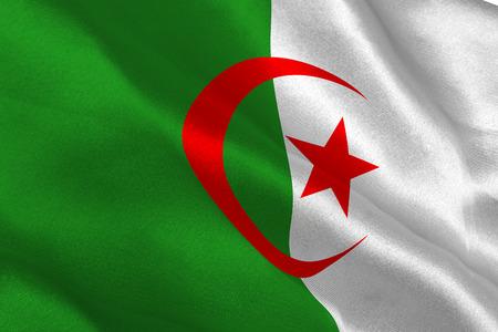 algerian flag: Algerian flag rippling