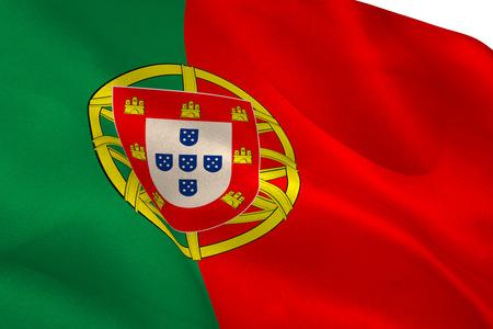 portugese: Portugese flag waving Stock Photo