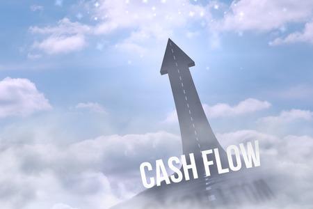 flujo de dinero: El flujo de caja palabra contra la carretera se convierta en la flecha
