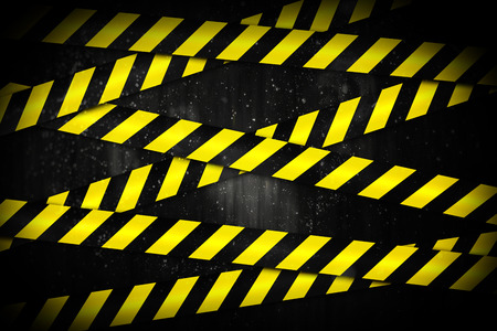 cordoned: Digitally generated yellow and black cordon tape