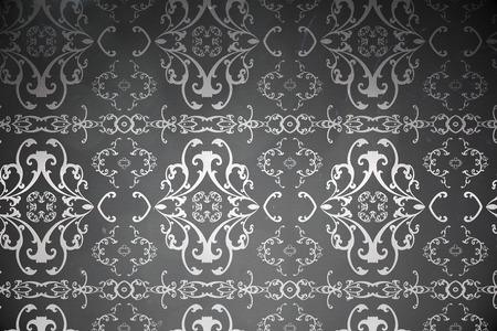 patterned wallpaper: Digitally generated elegant patterned wallpaper in grey