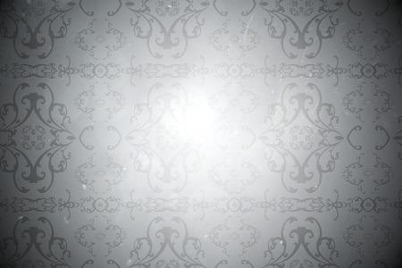 patterned wallpaper: Digitally generated elegant patterned wallpaper in grey tones