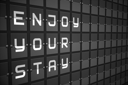 stay: Enjoy your stay on digitally generated black mechanical board