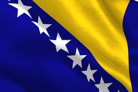 bosnia and herzegovina: Bosnia herzegovina national flag rippling