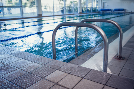 hand rails: Swimming pool with hand rails at the leisure center