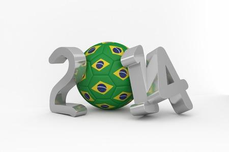 Brazil 2014 on white background photo