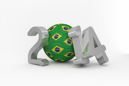 Brazil 2014 on white background photo