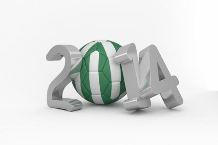 Nigeria 2014 on white background photo