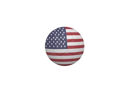 Football in america colours on white background photo