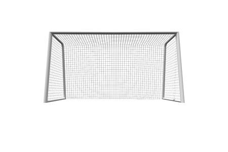 soccer goal: Soccer goal on white background Stock Photo