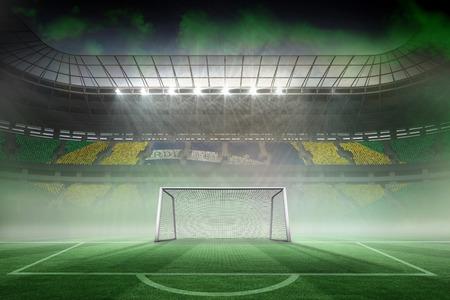 world sport event: Digitally generated vast football stadium for world cup