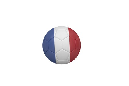 Football in france colours on white background photo