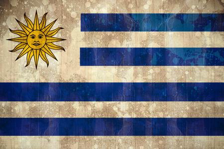 uruguay flag: Digitally generated uruguay flag in grunge effect