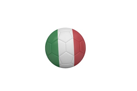 Football in italy colours on white background photo
